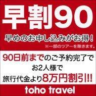 早めのお申込みがお得!90日前早期割引特典~おふたりで8万円割引!!